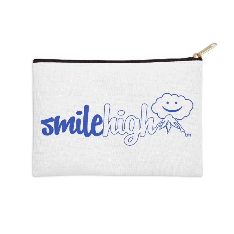 Smile High Classic Blue Line Design Accessories Zip Pouch by Join The Circle at SmileHigh.com
