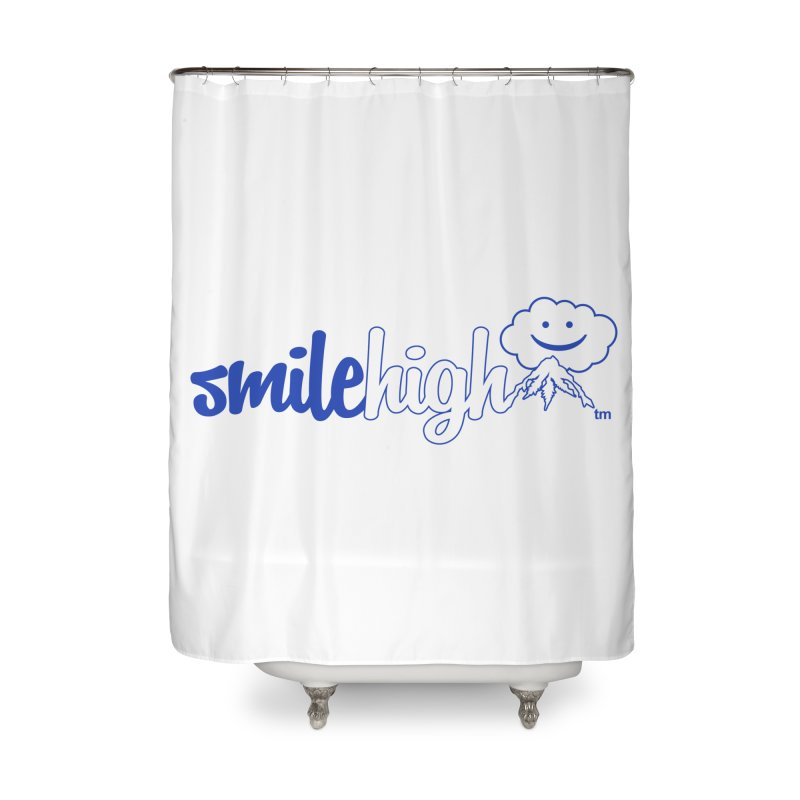 Smile High Classic Blue Line Design Home Shower Curtain by Join The Circle at SmileHigh.com