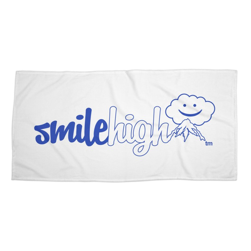 Smile High Classic Blue Line Design Accessories Beach Towel by Join The Circle at SmileHigh.com