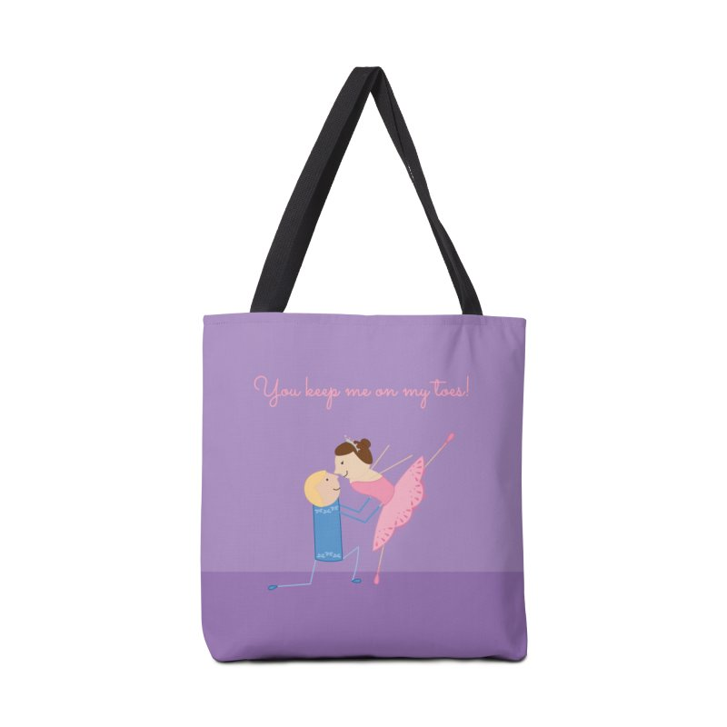 Ballerinas Accessories Tote Bag Bag by {mostly} Smiling Sticks