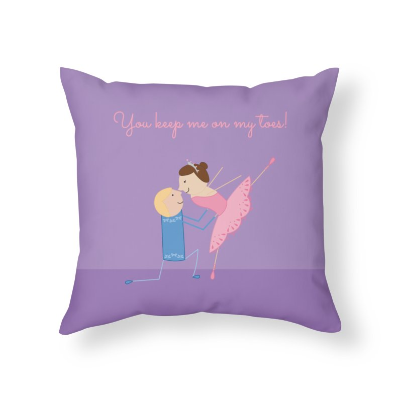 Ballerinas Home Throw Pillow by {mostly} Smiling Sticks