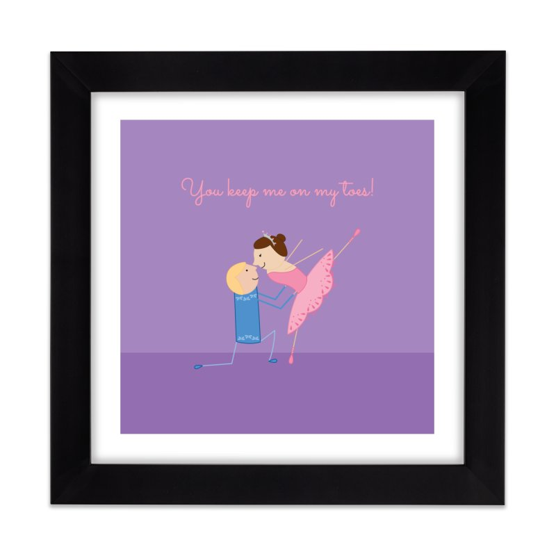 Ballerinas Home Framed Fine Art Print by {mostly} Smiling Sticks