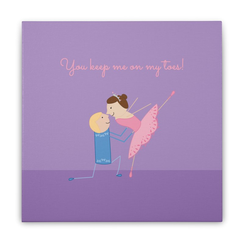 Ballerinas Home Stretched Canvas by {mostly} Smiling Sticks