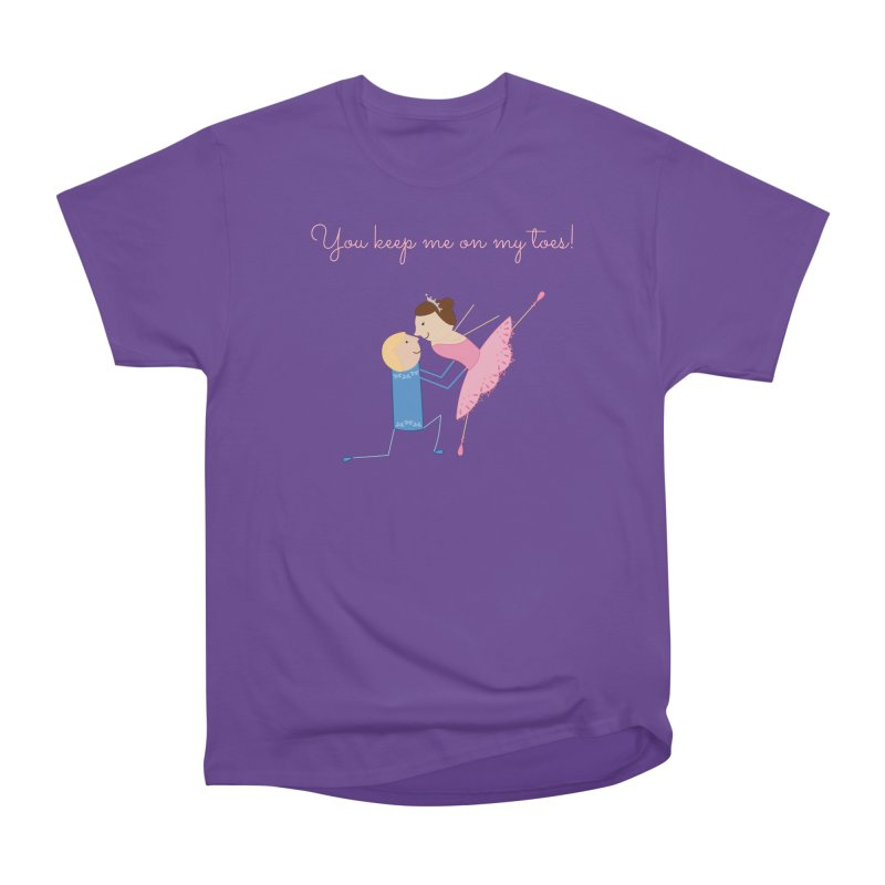 Ballerinas Women's Heavyweight Unisex T-Shirt by {mostly} Smiling Sticks