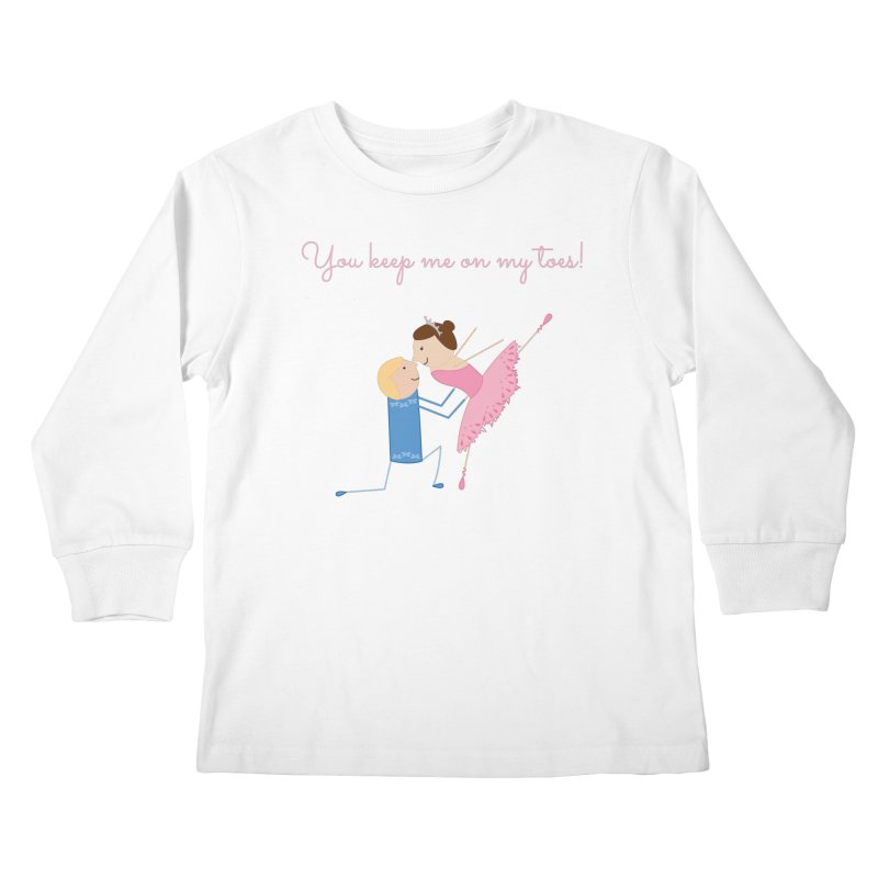 Ballerinas Kids Longsleeve T-Shirt by {mostly} Smiling Sticks
