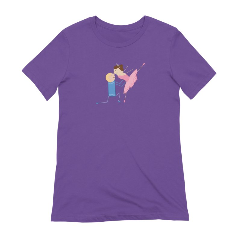 Ballerinas Women's Extra Soft T-Shirt by {mostly} Smiling Sticks