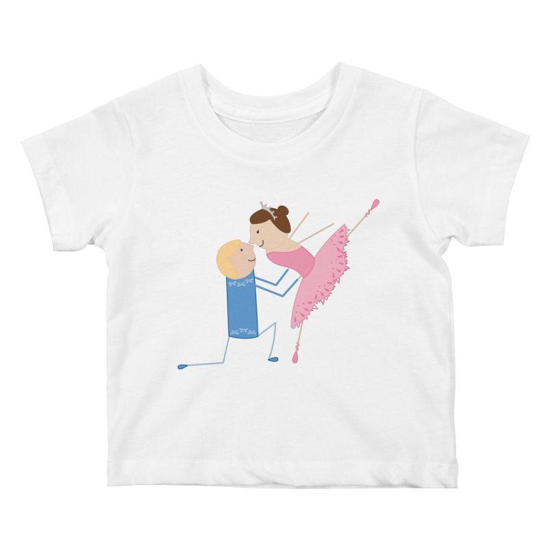 Ballerinas Kids Baby T-Shirt by {mostly} Smiling Sticks