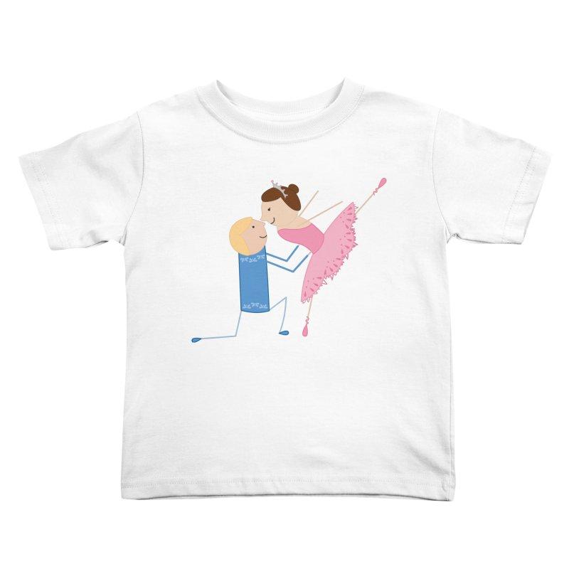 Ballerinas Kids Toddler T-Shirt by {mostly} Smiling Sticks