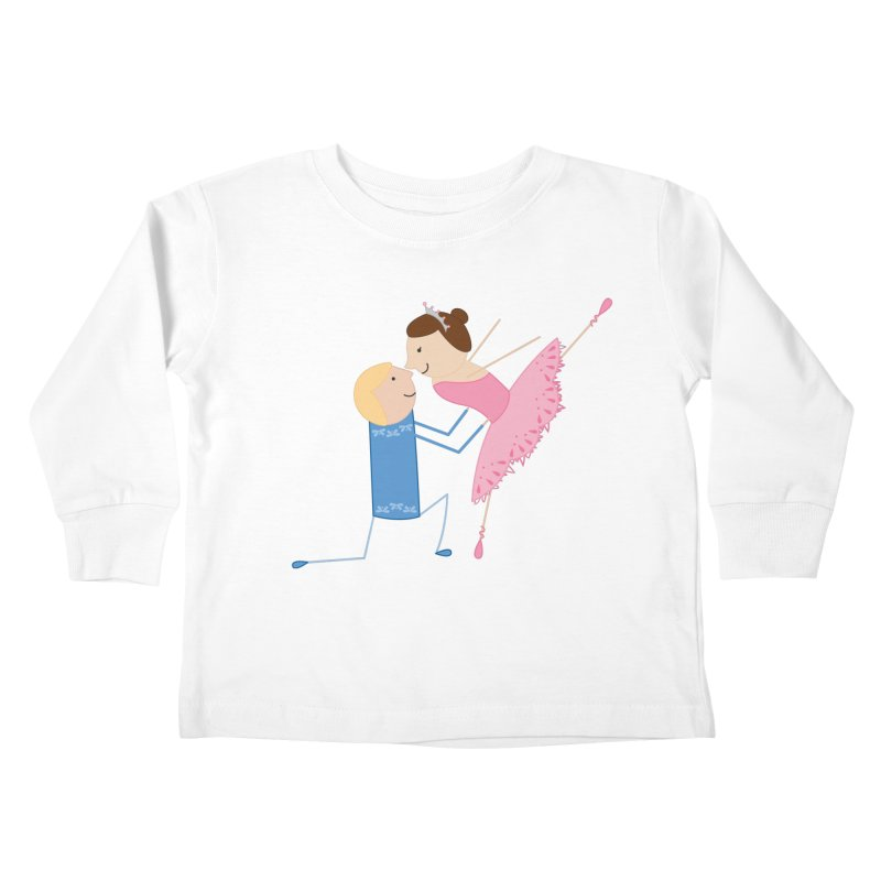 Ballerinas Kids Toddler Longsleeve T-Shirt by {mostly} Smiling Sticks