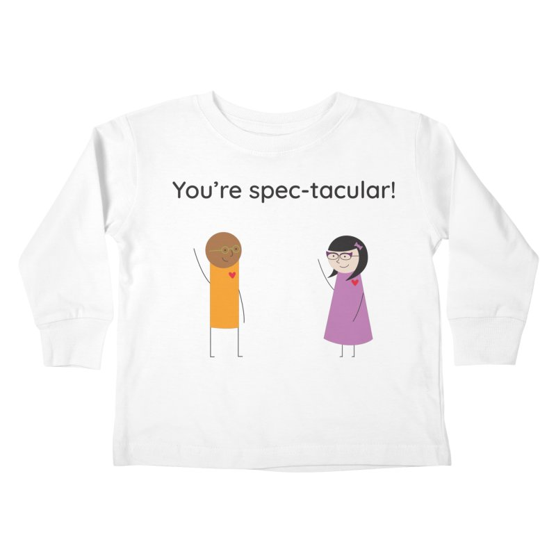 Specs Kids Toddler Longsleeve T-Shirt by {mostly} Smiling Sticks