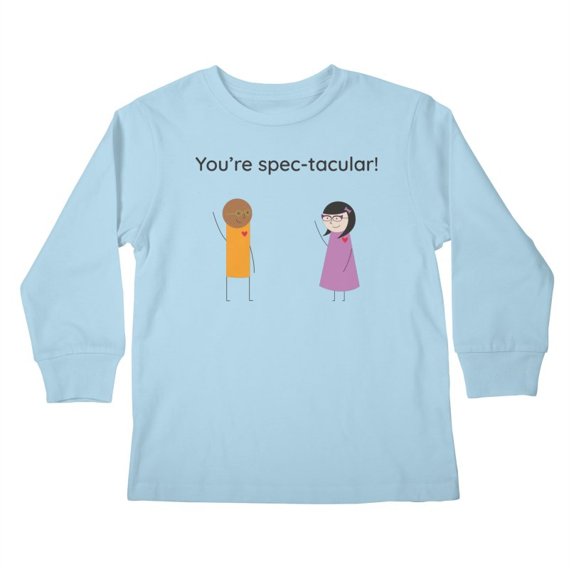 Specs Kids Longsleeve T-Shirt by {mostly} Smiling Sticks