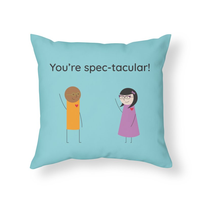Specs Home Throw Pillow by {mostly} Smiling Sticks