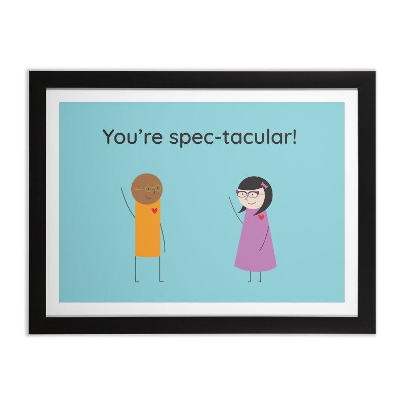 Specs Home Framed Fine Art Print by {mostly} Smiling Sticks