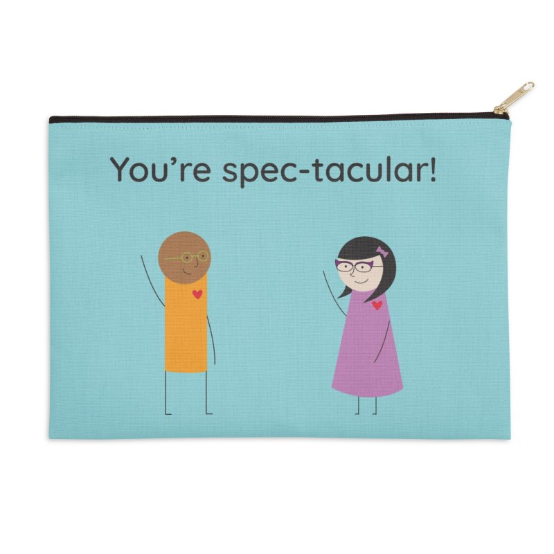 Specs Accessories Zip Pouch by {mostly} Smiling Sticks