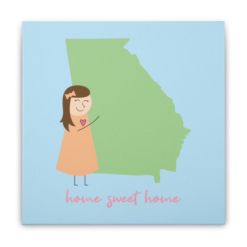 Georgia Home Stretched Canvas by {mostly} Smiling Sticks