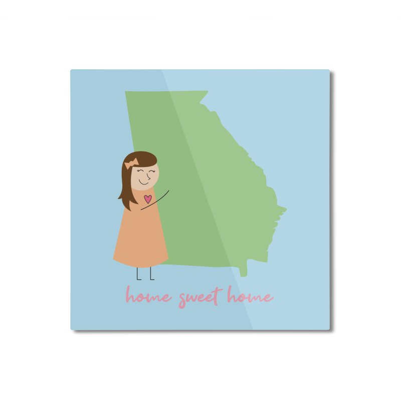 Georgia Home Mounted Aluminum Print by {mostly} Smiling Sticks