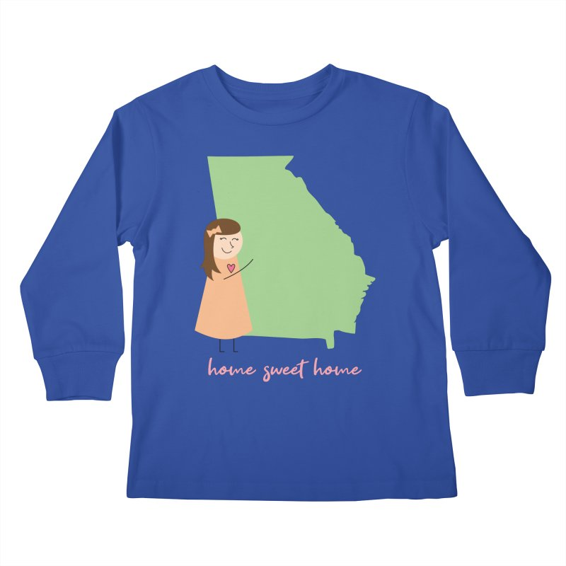 Georgia Kids Longsleeve T-Shirt by {mostly} Smiling Sticks