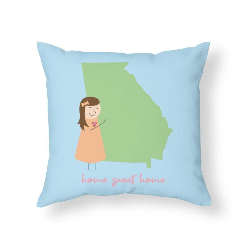 Georgia Home Throw Pillow by {mostly} Smiling Sticks