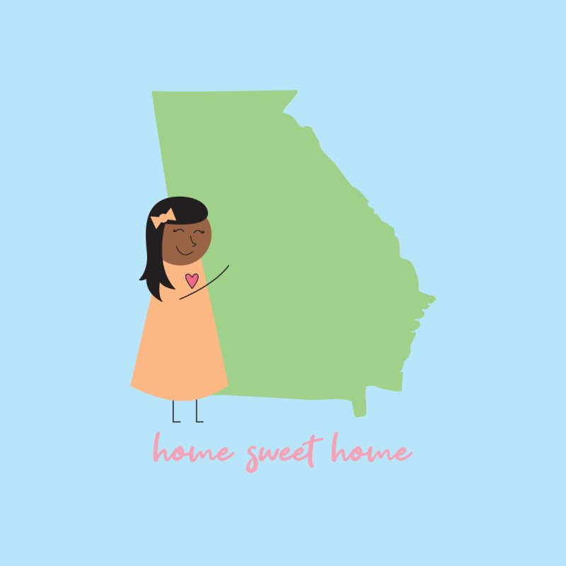 Georgia Hug Home Stretched Canvas by {mostly} Smiling Sticks