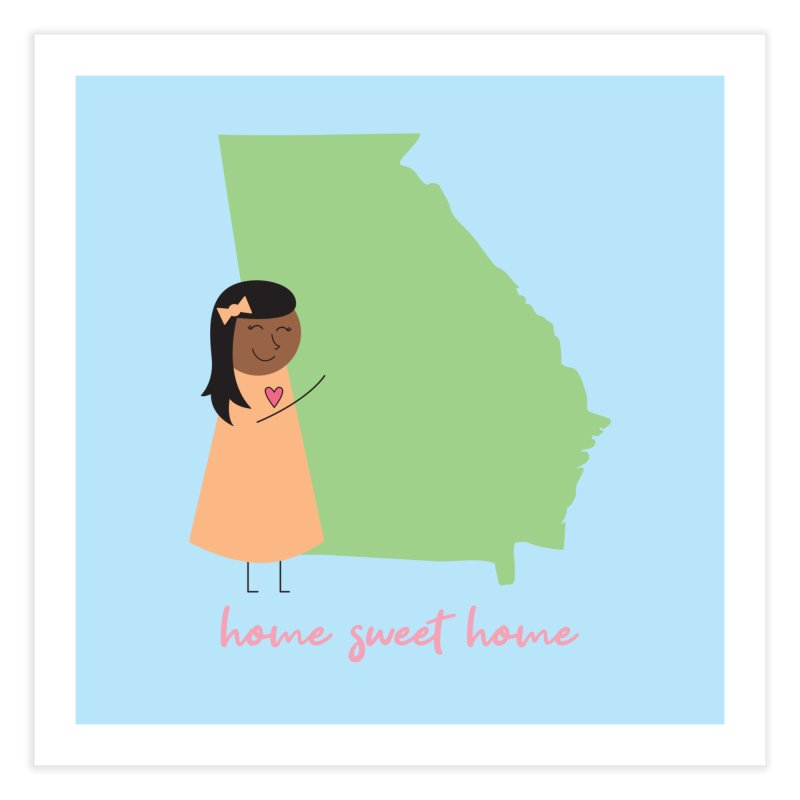 Georgia Hug Home Fine Art Print by {mostly} Smiling Sticks