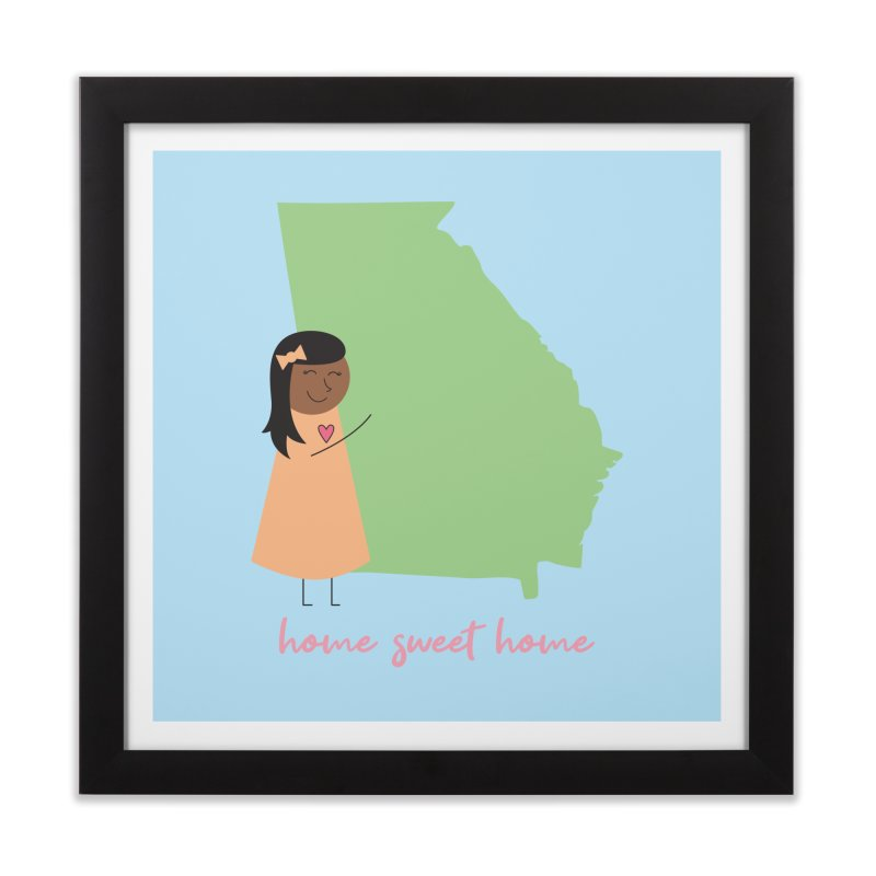 Georgia Hug Home Framed Fine Art Print by {mostly} Smiling Sticks