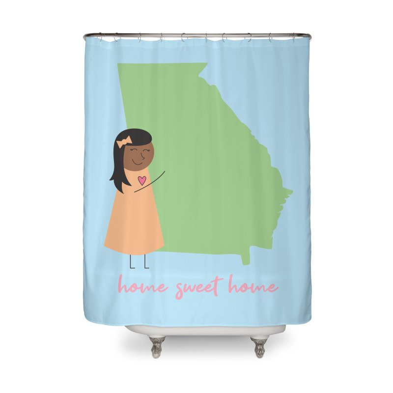 Georgia Hug Home Shower Curtain by {mostly} Smiling Sticks