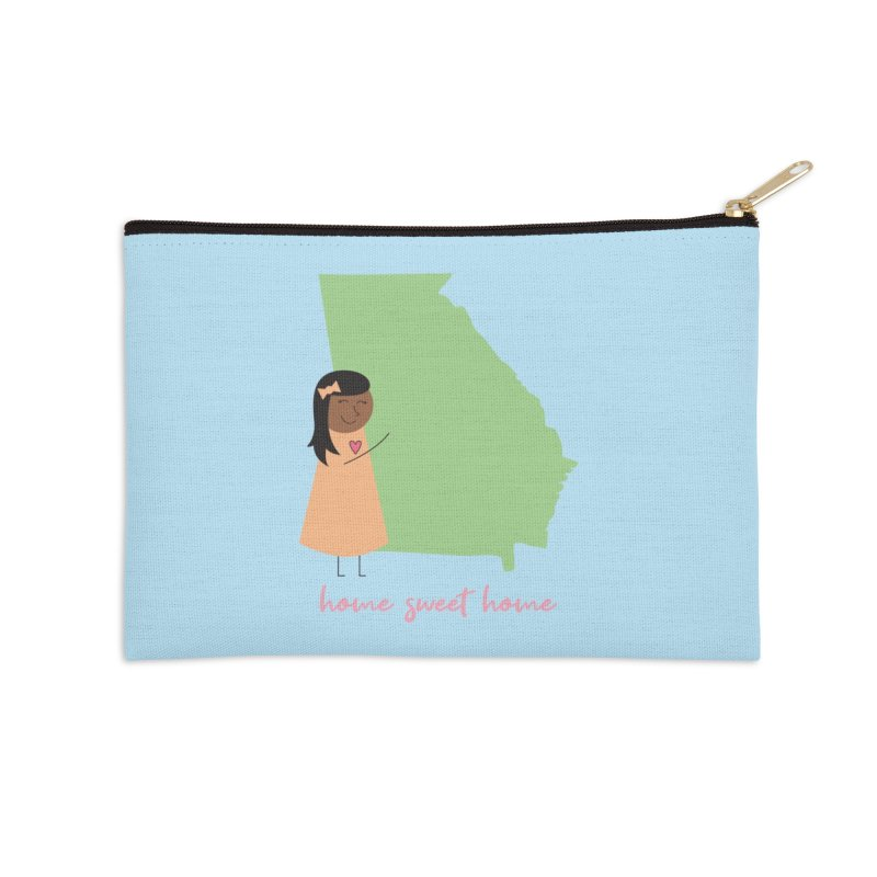 Georgia Hug Accessories Zip Pouch by {mostly} Smiling Sticks