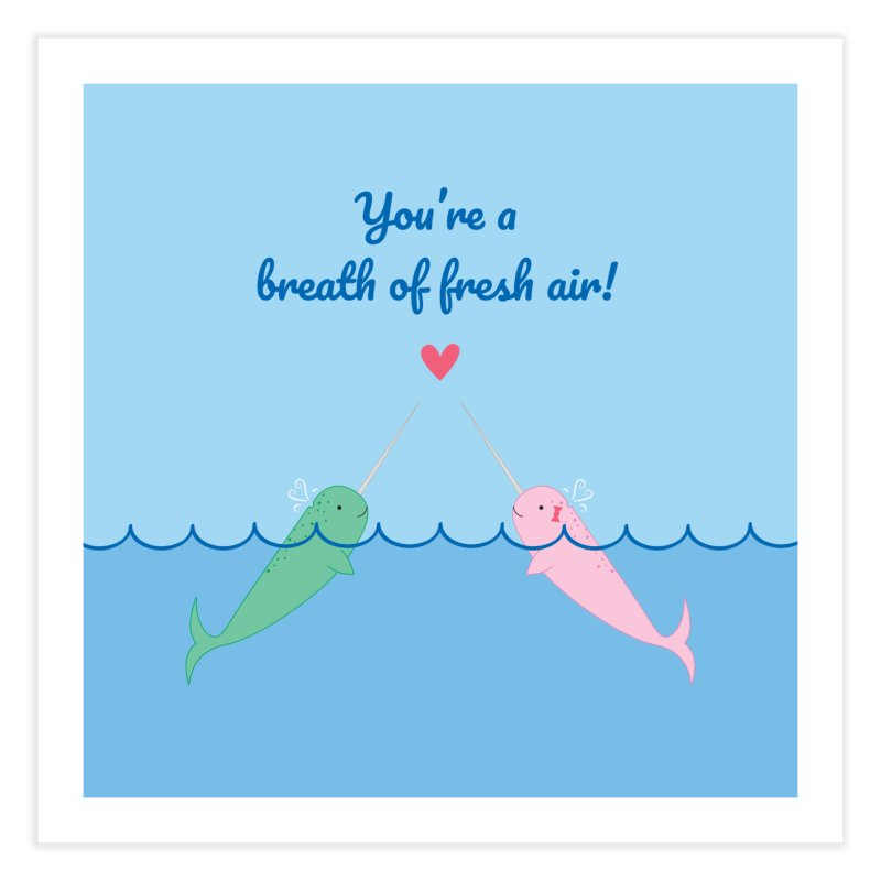 Narwhal Home Fine Art Print by {mostly} Smiling Sticks