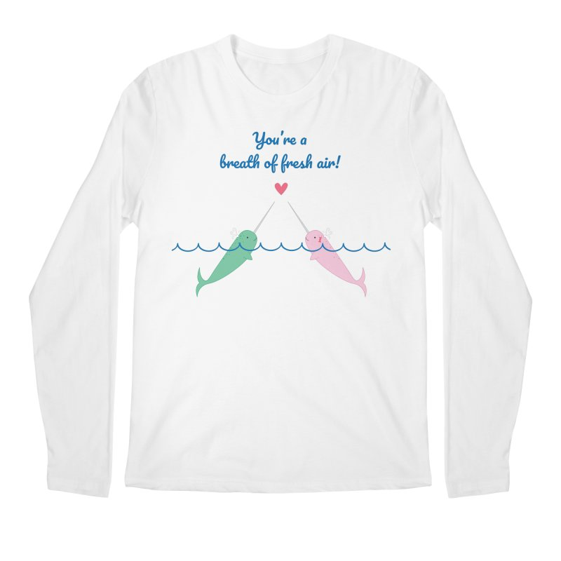 Narwhal Men's Longsleeve T-Shirt by {mostly} Smiling Sticks
