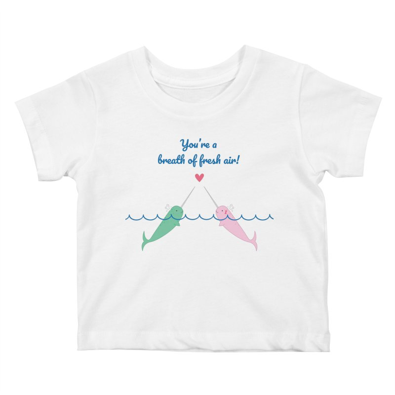 Narwhal Kids Baby T-Shirt by {mostly} Smiling Sticks