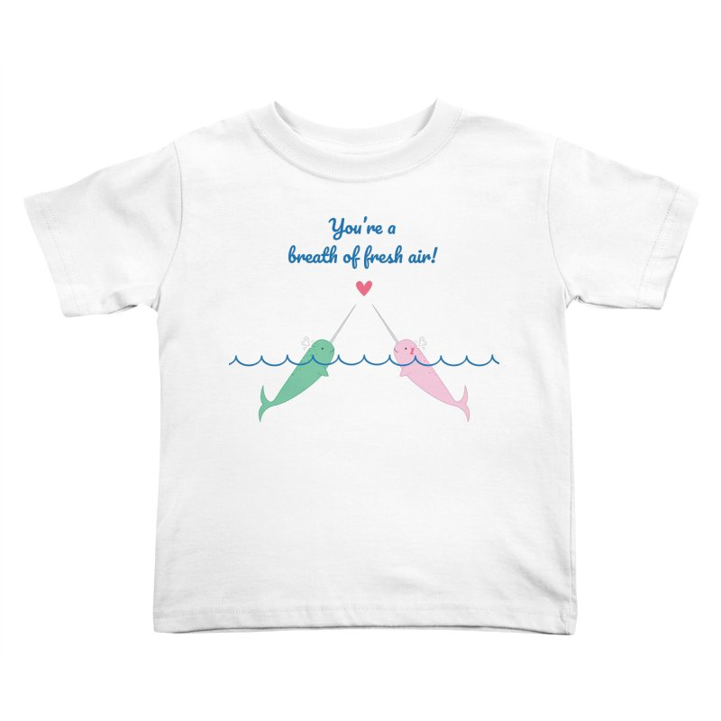 Narwhal Kids Toddler T-Shirt by {mostly} Smiling Sticks