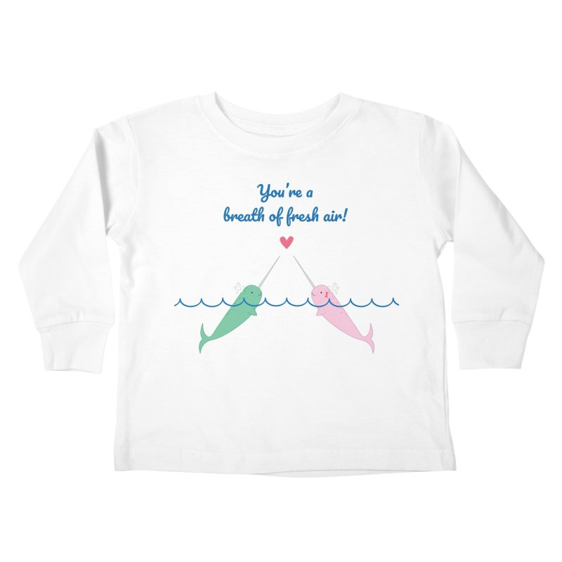 Narwhal Kids Toddler Longsleeve T-Shirt by {mostly} Smiling Sticks