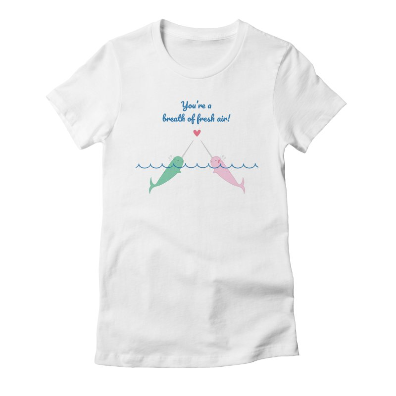 Narwhal Women's T-Shirt by {mostly} Smiling Sticks