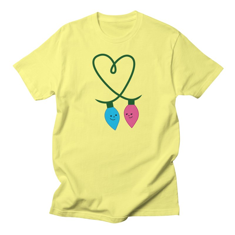 Christmas Lights Men's T-Shirt by {mostly} Smiling Sticks