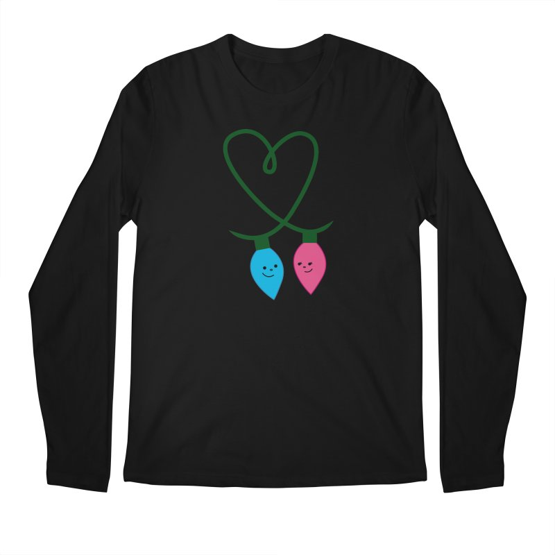 Christmas Lights Men's Longsleeve T-Shirt by {mostly} Smiling Sticks