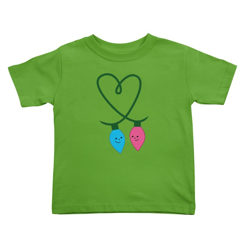 Christmas Lights Wee Things Toddler T-Shirt by {mostly} Smiling Sticks