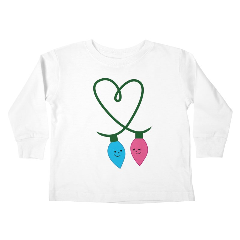 Christmas Lights Kids Toddler Longsleeve T-Shirt by {mostly} Smiling Sticks