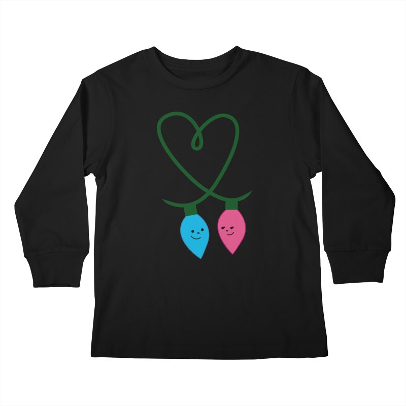 Christmas Lights Kids Longsleeve T-Shirt by {mostly} Smiling Sticks