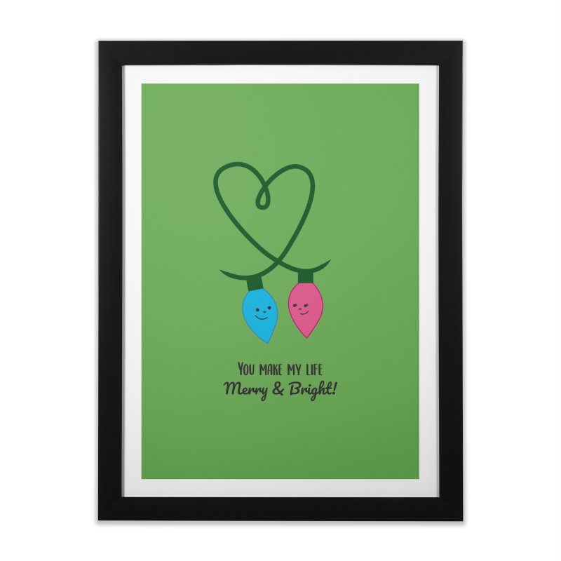 Christmas Lights Home Framed Fine Art Print by {mostly} Smiling Sticks