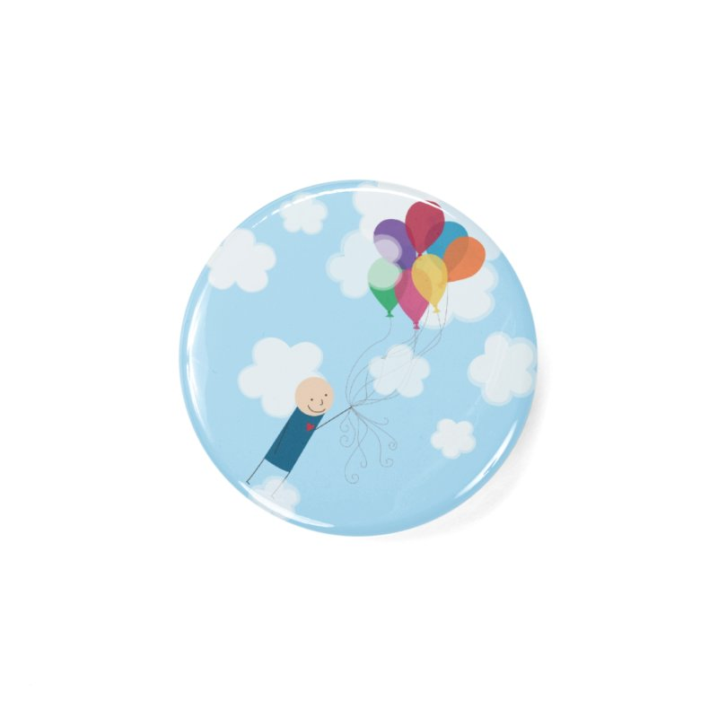 Balloons Accessories Button by {mostly} Smiling Sticks