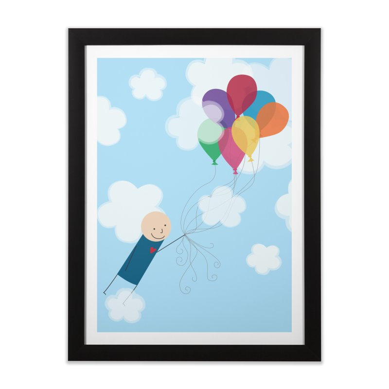 Balloons Home Framed Fine Art Print by {mostly} Smiling Sticks