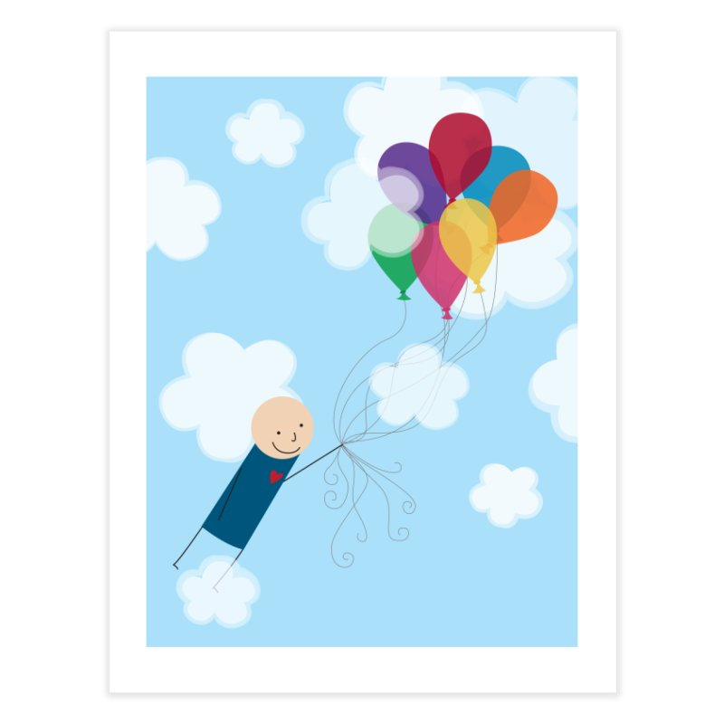 Balloons Home Fine Art Print by {mostly} Smiling Sticks