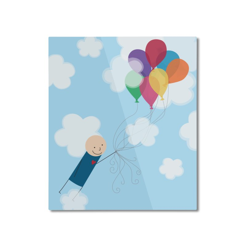 Balloons Home Mounted Aluminum Print by {mostly} Smiling Sticks