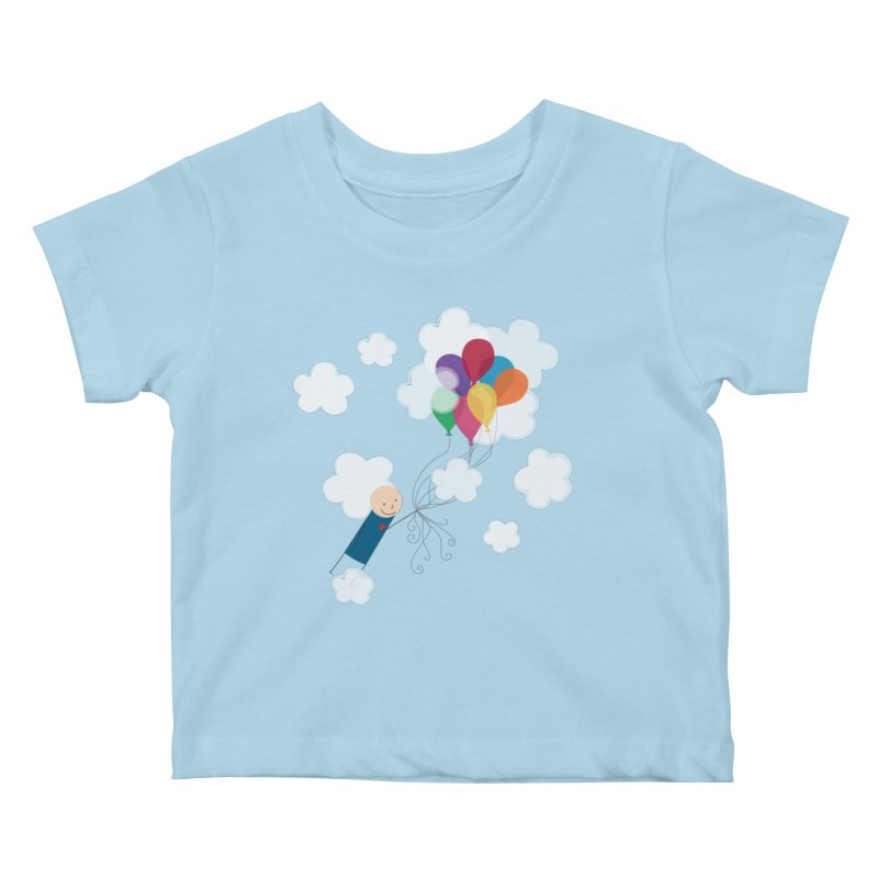 Balloons Kids Baby T-Shirt by {mostly} Smiling Sticks