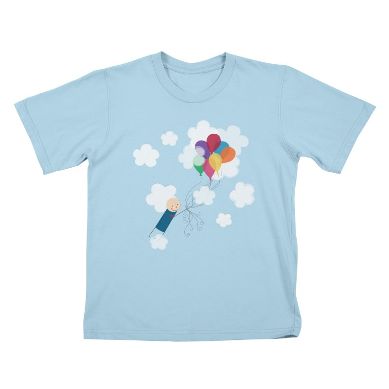 Balloons Kids T-Shirt by {mostly} Smiling Sticks