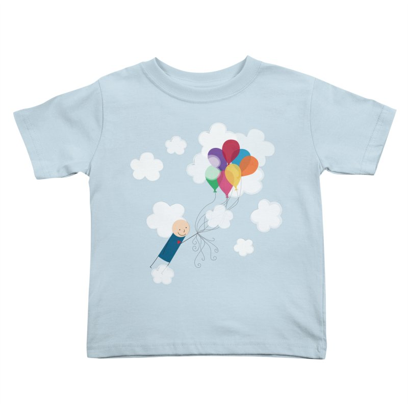Balloons Kids Toddler T-Shirt by {mostly} Smiling Sticks