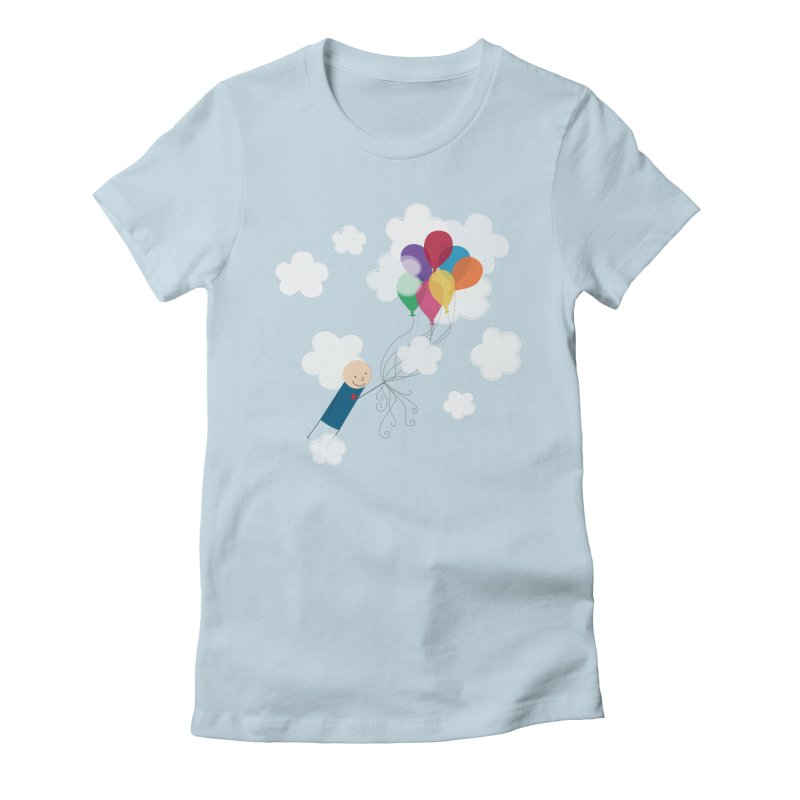 Balloons Women's T-Shirt by {mostly} Smiling Sticks