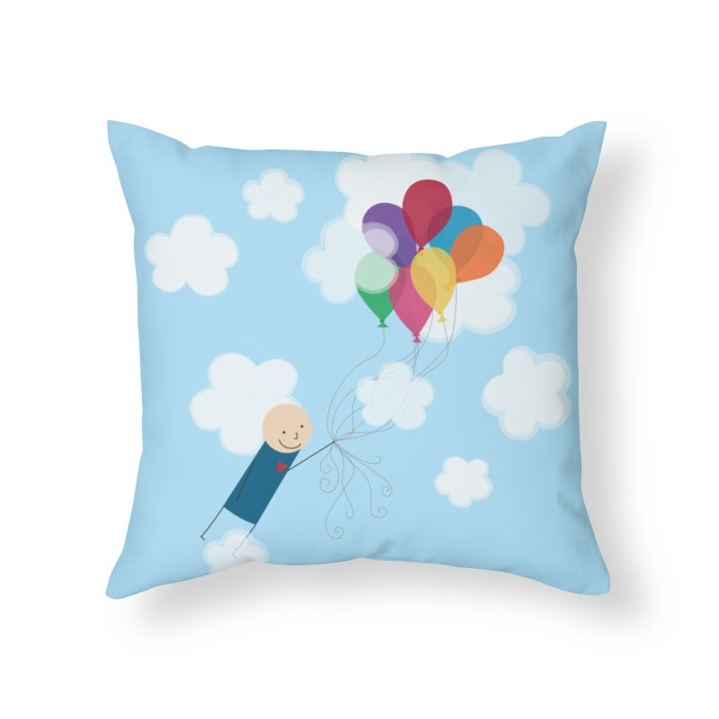 Balloons Home Throw Pillow by {mostly} Smiling Sticks