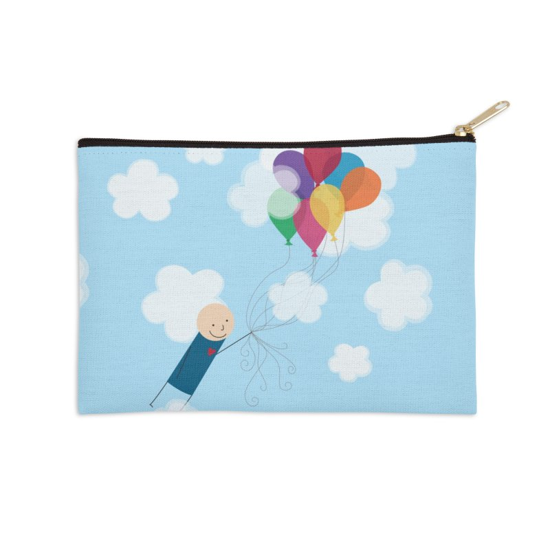Balloons Accessories Zip Pouch by {mostly} Smiling Sticks