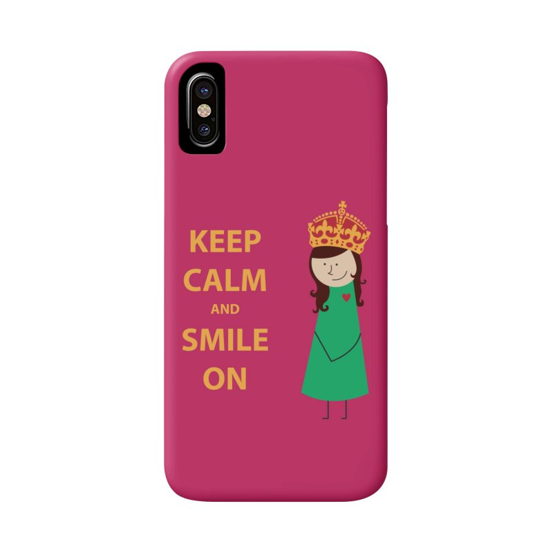 Smile On in iPhone X Phone Case Slim by {mostly} Smiling Sticks